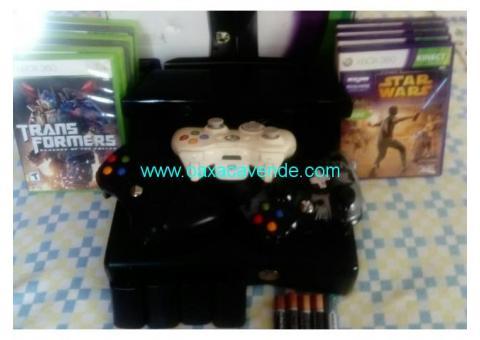 Xbox360 Slime (4Gb) + Kinect 360 + 3 controles + 10 juegos + 5 pilas