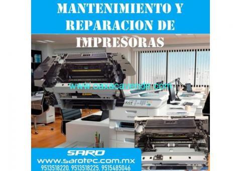 Servicio a impresoras y portatiles