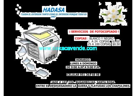 SERVICIO DE FOTOCOPIADO