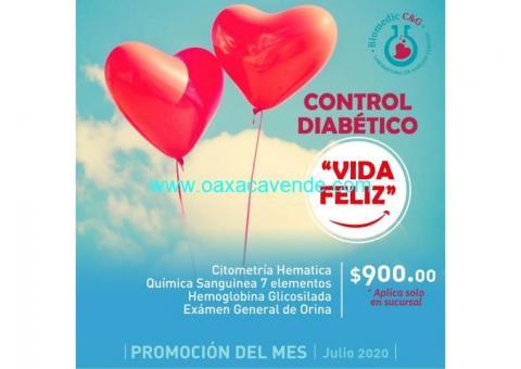 Paquete diabético $900.00
