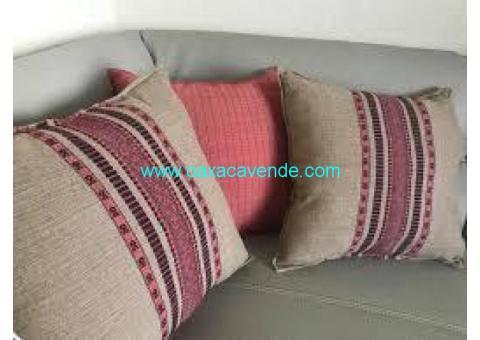 cojines artesanles, tejidos en telar